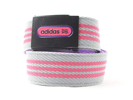 New Mens Adidas Golf Belt Pink and Gray 100% Polyester