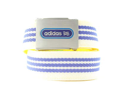 New Mens Adidas Golf Mens Belts Polyester Blue White and Yellow