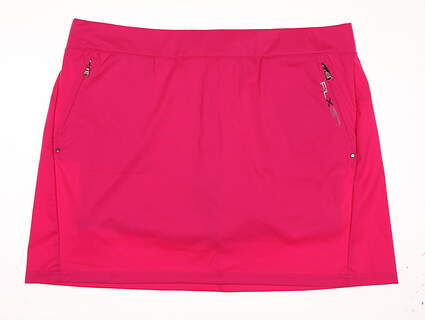 New Womens Ralph Lauren RLX Golf Skort Size Large L Pink MSRP $130