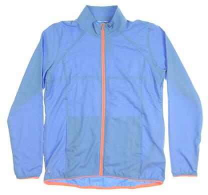 New Womens Adidas Golf Wind Jacket Medium M Blue MSRP $65 Z97956