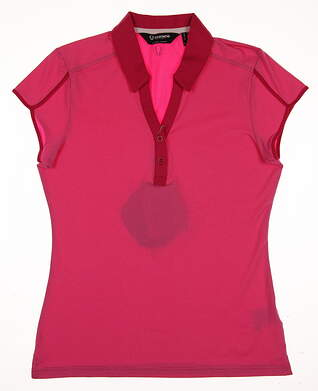 New Womens SUNICE Golf Polo Small S Pink MSRP $40