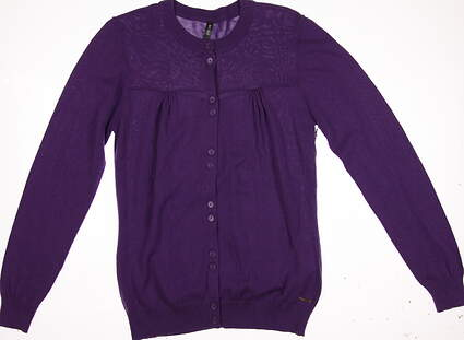 New Womens Lija Golf Sweater Large L Purple MSRP $60