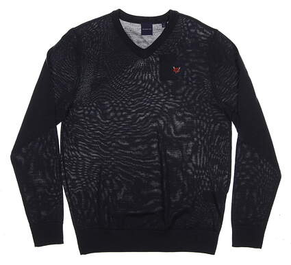 New W/ Logo Mens Dunning Golf Sweater Small S Navy Blue MSRP $125