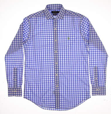 New Mens Ralph Lauren Button Up Small S Blue MSRP $98
