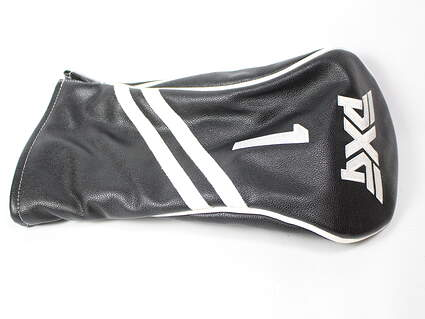 PXG 0811 Driver Black White Stitched 1 Leather Headcover