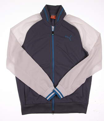 New Mens Puma Golf Track Jacket Medium M Peacoat/White 568320-02 MSRP $90