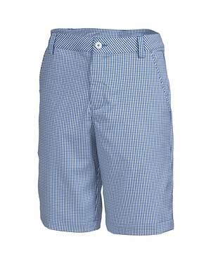 New Mens Puma Golf Plaid Tech Shorts Size 32 Strong Blue/Gray Dawn MSRP $70
