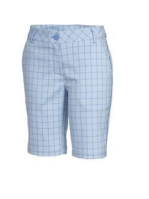 New Womens Puma Golf Pattern Tech Bermuda Shorts Size 4 Omphalodes/Ultramarine MSRP $70