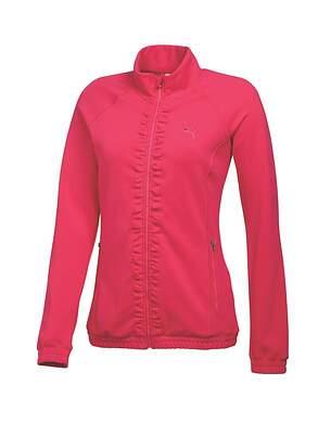 New Womens Puma Golf Track Jacket Small S Raspberry MSRP $70