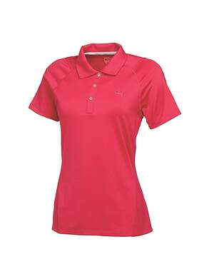 New Womens Puma Golf Bioswing Polo Small S Raspberry MSRP $60