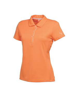 New Womens Puma Golf Tech Polo Small S Nectarine MSRP $50