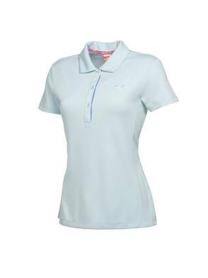 New Womens Puma Golf Tech Polo Small S Omphalodes MSRP $50