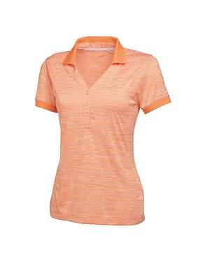 New Womens Puma Golf Multi Stripe Polo Small S White/Nectarine MSRP $60