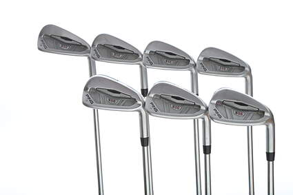 Ping S56 Iron Set 3-9 Iron True Temper Dynamic Gold X100 Steel X-Stiff Right Handed White Dot 37.75 in