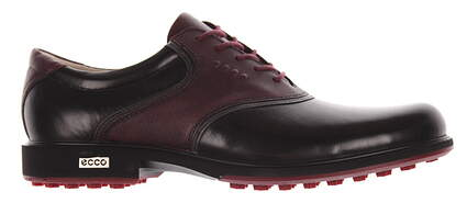 New Mens Golf Shoe Ecco Tour Hybrid 43 (9-9.5) Black/Port MSRP $280