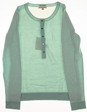 New Womens Fairway & Greene All Sweater Medium M Green MSRP $120