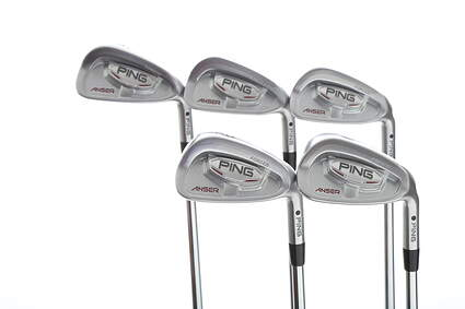 Ping Anser Forged 2010 Iron Set 6-PW Project X Rifle 6.0 Steel Stiff Right Handed Black Dot 37.25 in