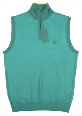 New W/ Logo Mens Ralph Lauren Golf Sweater Vest Small S Green MSRP $154
