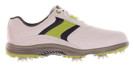 New Mens Golf Shoe Footjoy Contour Series Medium 9.5 White/Green MSRP $110