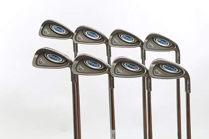 Ping i5 Iron Set 3-PW True Temper Dynamic Gold Steel Stiff Right Handed Silver Dot 38.5 in