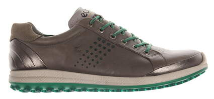 New Mens Golf Shoe Ecco BIOM Hybrid 2 43 (9-9.5) Warm Grey/Pure Green MSRP $200