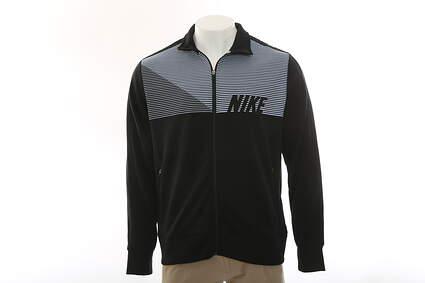 New Mens Nike All Full Zip Mock Neck X-Large XL Black MSRP $85