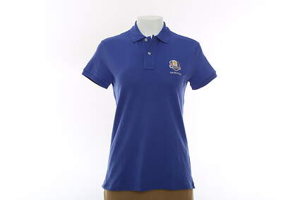 New Womens Ralph Lauren 2016 Ryder Cup SS Kathy Polo X-Small XS Blue MSRP $85