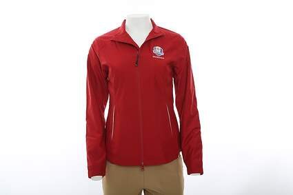 New Womens Cutter & Buck 2016 Ryder Cup Beacon Full Zip Jacket Large L Red MSRP $75