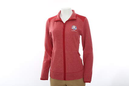 New Womens Cutter & Buck 2016 Ryder Cup Cedar Park Full Zip Jacket X-Large XL Red MSRP $85