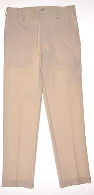 New Mens Adidas Golf Pants 32x34 Ecru MSRP $70