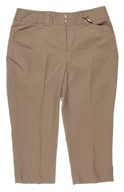 New Womens Sport Haley Golf Capris Size 6 Khaki MSRP $82