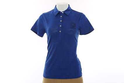 New Womens Cutter & Buck 2016 Ryder Cup SS Phoenix Polo X-Small XS Blue MSRP $68