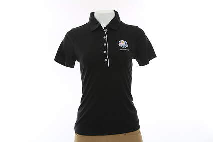 New Womens Cutter & Buck 2016 Ryder Cup Darcy Polo X-Small XS Black MSRP $49