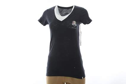 New Womens 47 2016 Ryder Cup MVP V-Neck Scrum X-Large XL Navy Blue MSRP $38
