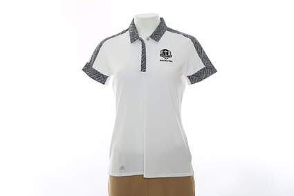 New Womens Adidas 2016 Ryder Cup Sport Print Polo Small S White MSRP $70