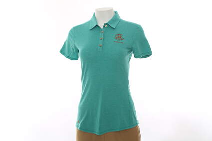 New Womens Adidas 2016 Ryder Cup Essentials SS Polo Small S Green MSRP $60
