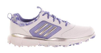 New Womens Golf Shoes Adidas Adistar Sport Medium 7 White/Purple MSRP $100 F33269