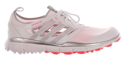 New Womens Golf Shoes Adidas Climacool II Medium 8.5 White/Pink MSRP $60 Q46727