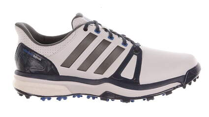 New Mens Golf Shoes Adidas Adipower Boost 2 Medium 9.5 White/Blue MSRP $150 Q44661