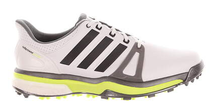 New Mens Golf Shoes Adidas Adipower Boost 2 Medium 10.5 White/Grey/Lime MSRP $150 F33364