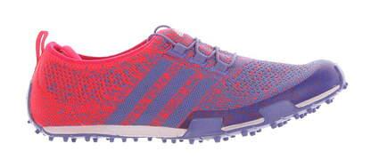 New Womens Golf Shoes Adidas Ballerina Primeknit Medium 7 Pink/Blue MSRP $110 F33322