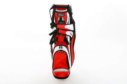 New Titleist Lightweight Fire Red/White/Grey Stand Bag 4 Way Top 8 in Mouth