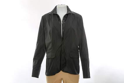 New Womens Ralph Lauren RLX Golf Jacket Large L Black MSRP $300