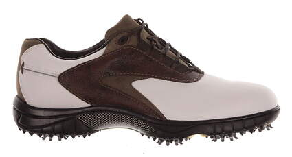 New Mens Golf Shoe Footjoy Contour Series Medium 8 White/Brown MSRP $110