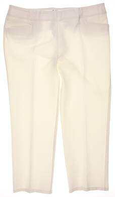 New Womens Adidas Essentials Puremotion Ankle Pant Size X-Large XL White MSRP $80