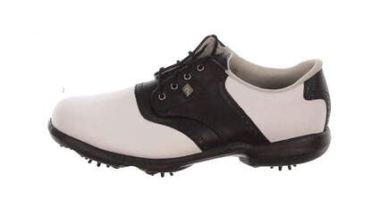 New Womens Golf Shoe Footjoy Dryjoys Medium 8.5 White/Black MSRP $160 99045