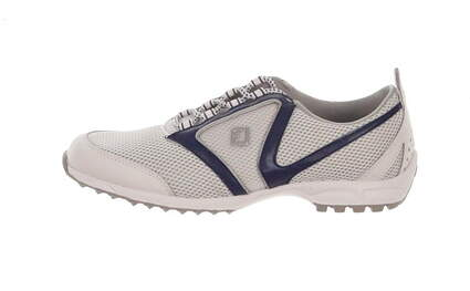 New Womens Golf Shoe Footjoy Summer Series Medium 7.5 Gray / White / Blue MSRP $90 98919