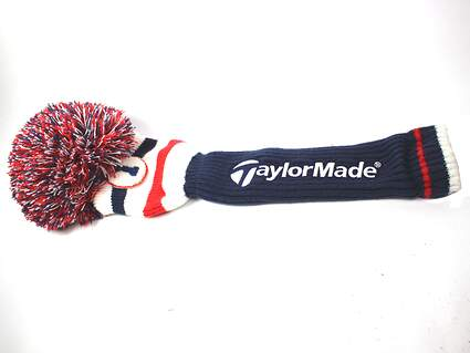 TaylorMade Sock Style With Pom Pom Driver 460cc Headcover Red White Blue Head Cover Golf