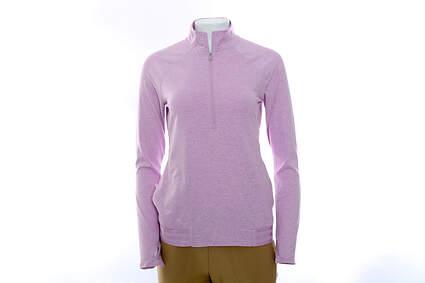 New Womens Adidas Golf Range Wear 1/2 Zip Pullover Small S Purple MSRP $70