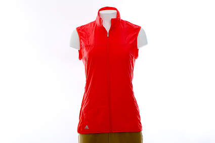 New Womens Adidas Golf Wind Tech Vest Small S Pink MSRP $75